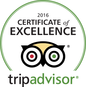 Tripadvisor certificate 2016